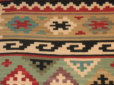 ... Design And Color For The Rug. They Are Passed Through A Few Warp  Strands Depending Of The Design; Then, They Loop Back Around When They  Reach A Pattern ...